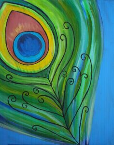 Painting at Mallard's on the St. Croix - Peacock F...
