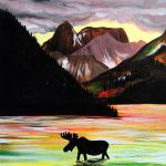 Painting at the Water Street Inn - Moose and Mountains