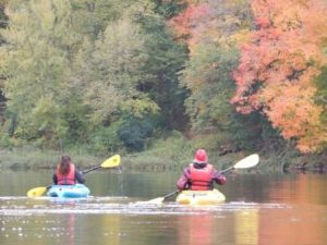 Fall Guided Kayak Paddle and Picnic on the St Croix River