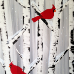 "Paint Sip Nosh at the Freight House - ""Cardinals in Winter Birches"""