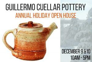 Guillermo Cuellar Pottery Holiday Open Studio Sale