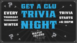 Trivia Night at Maple Island Brewing