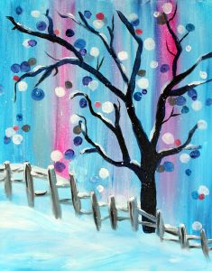 Paint Sip Nosh - Winter Wonderland