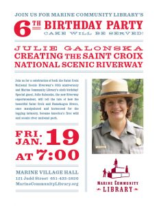 Creating the St. Croix National Scenic Riverway + Marine Library Birthday!