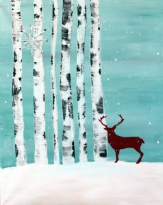 "Paint Sip Nosh at the Water Street Inn - ""Winter Deer"""