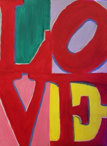 "Paint with Friends or your Sweetheart - ""L O V E"""