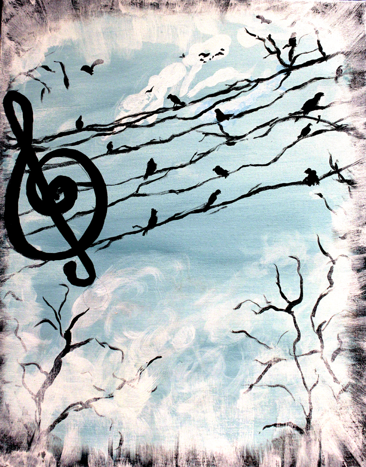 """Art Reach Calendar : Painting and a pint at the freight house """"songbirds"""