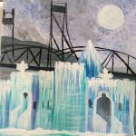 "Paint Sip Nosh at Mallards on the St. Croix - ""Stillwater Bridge and Ice"""