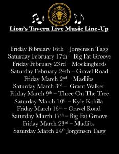 Live Music at Lion's Tavern