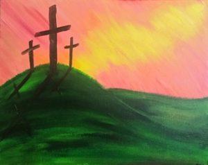 Painting at Mallards on the St Croix: Three Crosse...