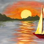 Painting on the St Croix - Twilight Sailing