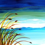 "Painting on the St. Croix - ""Beach Grass"""