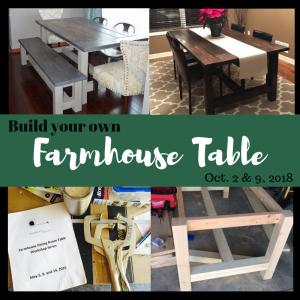 Sawdust Savvy Work Build Your Own Farmhouse Table
