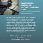 Creative Writing: The Relevant Personal Story