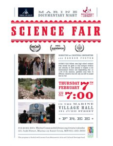 Marine Film Society Presents: SCIENCE FAIR