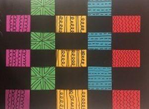 Woven Paper Kente Cloth (art for K-6)