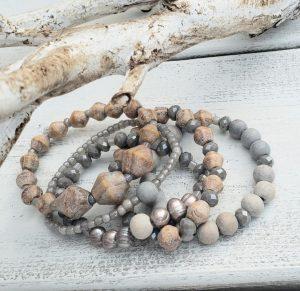 D.I.Y. Driftwood-Inspired Stacked Bracelets