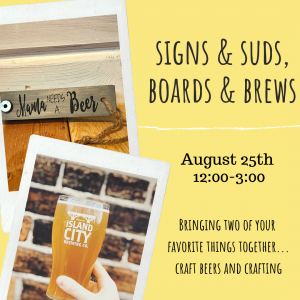 Sign & Suds, Boards & Brew @ Island City Brewing Co.