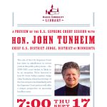 A Preview of the U.S. Supreme Court Session - with Hon. John Tunheim