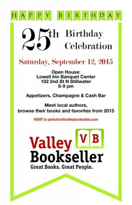 Happy Birthday Valley Bookseller!