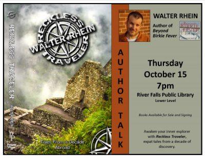 Walter Rhein Author Talk