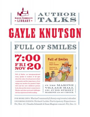 Authors Talk: Gayle Knutson - FULL OF SMILES