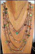 Beaded Necklace at the Hudson Area Library