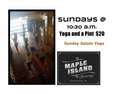 Yoga Sunday Salute at Maple Island Brewing