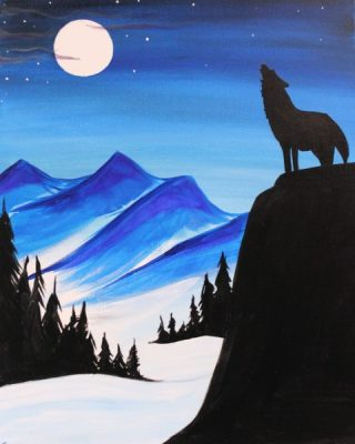 Paint-Sip-Nosh! | 'Midnight Howl' with Rhonda