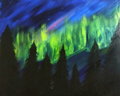 Paint-Sip-Nosh!   'Northern Lights' with Rhonda