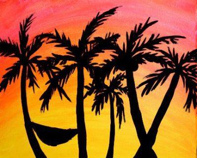 Paint-Sip-Nosh! | 'Seaside Hammock' with Grace