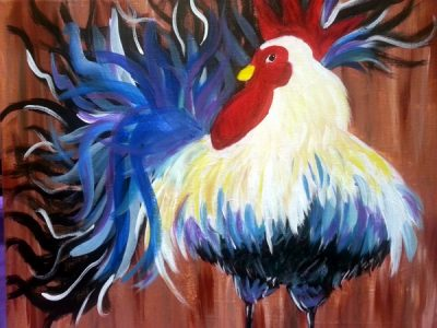 Paint-Sip-Nosh! | 'Rooster' with Rhonda