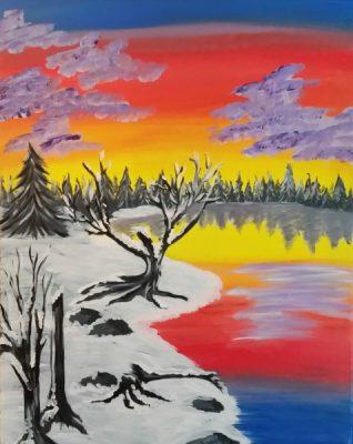 Paint-Sip-Nosh! | 'Frozen Tundra' with Rhonda