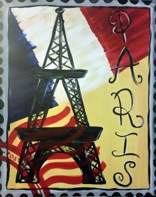 Paint-Sip-Nosh! | 'Stamp Collection: Paris' with Jenny