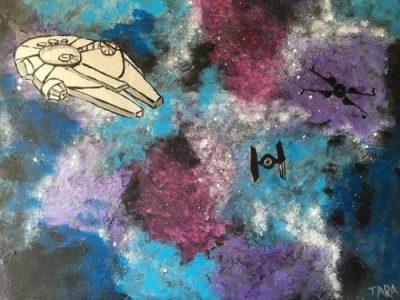 Paint-Sip-Nosh!   'Star Wars' with Tara