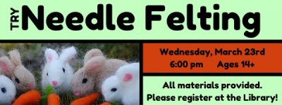 Needle Felting at the Hudson Area Library