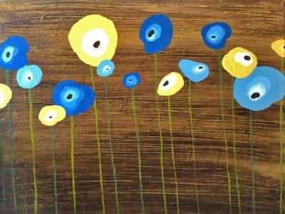 Paint-Sip-Nosh! | 'Pretty Poppies'