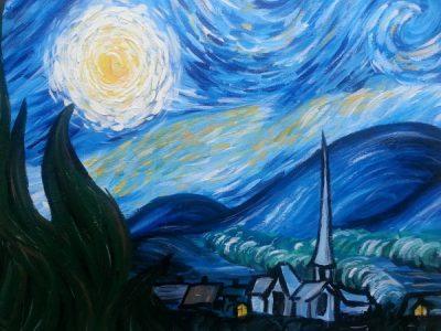 Paint-Sip-Nosh!   'Starry Night'