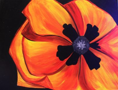 Paint-Sip-Nosh! | 'Giant Red Poppy'