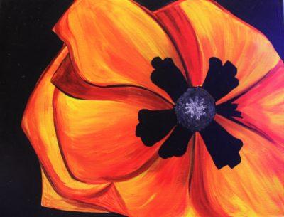 Paint-Sip-Nosh! | 'Giant Red Poppy'