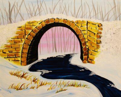 Paint-Sip-Nosh! | 'Stillwater Collection: Stone Bridge'