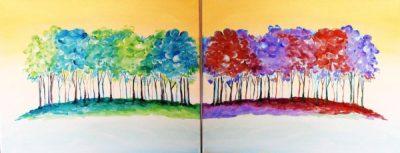 Paint-Sip-Nosh! | 'Rainbow Trees' - Couple's Night...