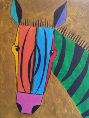 Paint-Sip-Nosh! | 'Colorful Zebra'