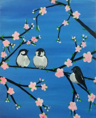 Paint-Sip-Nosh! | 'Spring Chickadees'