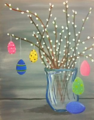 Paint-Sip-Nosh! | 'Easter Egg Branch'