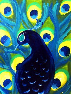 Paint-Sip-Nosh! | 'Pretty Peacock'