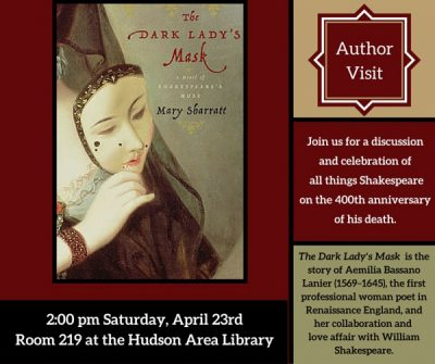 Author Visit: Mary Sharratt at the Hudson Area Library
