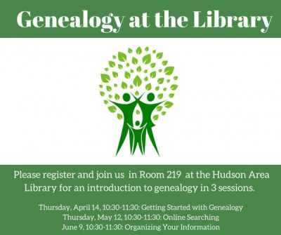 Genealogy at the Hudson Area Library