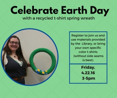 Adult Craft: Recycled T-shirt Spring Wreath