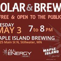 Solar & Brews at Maple Island Brewing